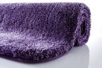 Kleine Wolke Badteppich, Relax, Aubergine, rutschhemmender Rücken, Öko-Tex zertifiziert