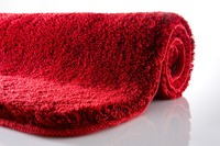 Kleine Wolke Badteppich Relax Rubin rutschhemmender Rücken Öko-Tex zertifiziert