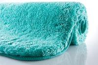 Kleine Wolke Badteppich Relax Türkis rutschhemmender Rücken Öko-Tex zertifiziert