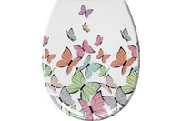 Kleine Wolke WC-Sitz Butterflies, Multicolor 37 x 45 cm