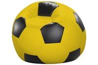 linke licardo Fußball-Sitzsack Kunstleder gelb/ schwarz