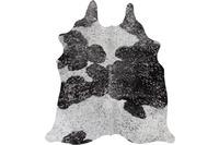 Luxor Living Rinderfell Deluxe schwarz/ weiß/ silber