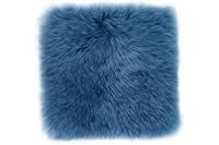Luxor Living Sitzkissen Schaffell, blau 34 x 34