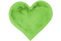 me gusta Kinderteppich Lovely Kids 1225-Heart Grün 60 x 70 cm
