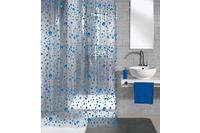 Meusch Duschvorhang Drops Marineblau 180x200 cm