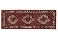 Oriental Collection Bidjar mit Seidenanteil 75 cm x 210 cm