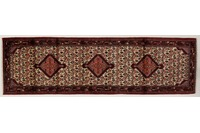 Oriental Collection Hamadan Teppich 80 x 270 cm stark gemustert