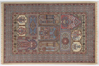 Oriental Collection Ilam-Teppich auf Seide 148 x 223 cm