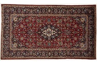 Oriental Collection Kashan Teppich 150 x 260 cm stark gemustert