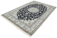 Oriental Collection Nain-Teppich Medallion blau 192 x 294 cm