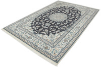 Oriental Collection Nain-Teppich Medallion blau 195 x 295 cm