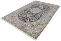 Oriental Collection Nain-Teppich Medallion blau 200 x 300 cm