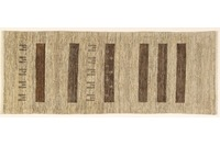 Oriental Collection Gabbeh-Teppich Rissbaft 82 x 210 cm beige