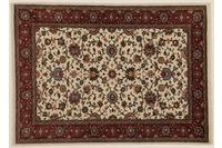 Oriental Collection Teppich, Sarough, Perser-Teppich, handgeknüpft, reine Schurwolle, florale Ornamentik, 135 x 185 cm