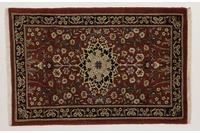 Oriental Collection Teppich, Sarough, Perser-Teppich, handgeknüpft, reine Schurwolle, florale Ornamentik, 72 x 110 cm