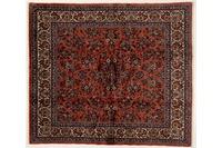 Oriental Collection Teppich, Sarough, Perser-Teppich, handgeknüpft, reine Schurwolle, florale Ornamentik, 200 x 231 cm