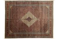 Oriental Collection Teppich, Sarough, Perser-Teppich, handgeknüpft, reine Schurwolle, florale Ornamentik, 360 x 476 cm