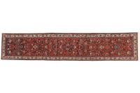 Oriental Collection Teppich, Sarough, Perser-Teppich, handgeknüpft, reine Schurwolle, florale Ornamentik, 80 x 407 cm