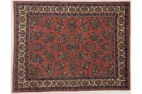 Oriental Collection Teppich, Sarough, Perser-Teppich, handgeknüpft, reine Schurwolle, florale Ornamentik, 210 x 267 cm