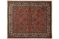 Oriental Collection Teppich, Sarough, Perser-Teppich, handgeknüpft, reine Schurwolle, florale Ornamentik, 216 x 252 cm