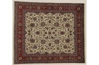 Oriental Collection Teppich, Sarough, Perser-Teppich, handgeknüpft, reine Schurwolle, florale Ornamentik, 202 x 233 cm