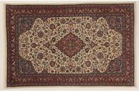 Oriental Collection Teppich, Sarough, Perser-Teppich, handgeknüpft, reine Schurwolle, florale Ornamentik, 134 x 205 cm