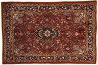 Oriental Collection Teppich, Sarough, Perser-Teppich, handgeknüpft, reine Schurwolle, florale Ornamentik, 147 x 220 cm