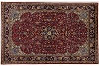 Oriental Collection Teppich, Sarough, Perser-Teppich, handgeknüpft, reine Schurwolle, florale Ornamentik, 135 x 207 cm