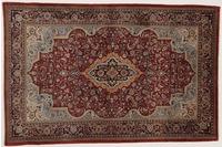 Oriental Collection Teppich, Sarough, Perser-Teppich, handgeknüpft, reine Schurwolle, florale Ornamentik, 135 x 202 cm