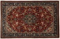Oriental Collection Teppich, Sarough, Perser-Teppich, handgeknüpft, reine Schurwolle, florale Ornamentik, 140 x 212 cm