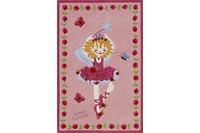 Prinzessin Lillifee Ballett Kinder-Teppich rosa/ pink, Öko-Tex zertifiziert