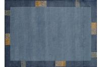 Nepal Teppich, Rama, 322, blau, reine Schurwolle, handgeknüpft, 10 mm Florhöhe