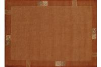 Nepal Teppich, Rama, 322, terra, reine Schurwolle, handgeknüpft, 10 mm Florhöhe