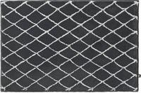 Rhomtuft Badteppich RHOM zink/ silbergrau