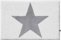 RHOMTUFT Badteppich STAR weiss/ edelstahl