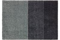 Schöner Wohnen Fußmatte Manhattan Design 003, Farbe 044 Streifen anthrazit-grau