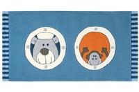 Sigikid Kinder-Teppich, Olaf Laola, Ahoi SK-3344-01kl blau