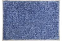 THEKO Hochflor-Teppich Girly uni blau