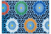 THEKO Happy Color 71 700 blau 133 cm x 190 cm