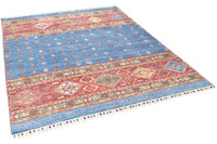 THEKO Orientteppich Kandashah 12 blue multi 152 x 200 cm