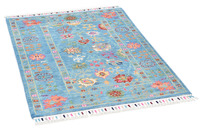THEKO Orientteppich Kandashah 3021,1 blue multi 81 x 119 cm