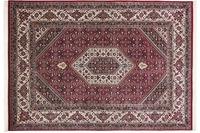 THEKO Teppich Meraj Silk touch Bidjar Cl. 562 rot /  creme
