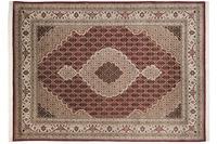 THEKO Teppich Sirsa Mahi Silk touch Tabriz Ma 562 rot /  creme