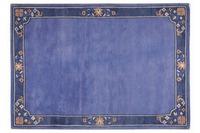 THEKO Nepalteppich Suha, fl. border, blau
