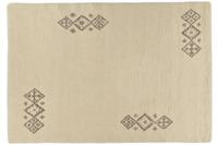 Tuaroc Berberteppich Zagora mit ca. 130.000 Florfäden/ m² wollweiß mit Muster