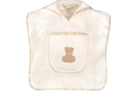 "Vossen Bademantel ""Teddy Kinderponcho"" ivory one size"