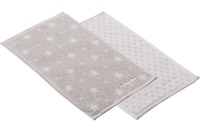 Vossen Kinderhandtuch Beam & Bubble Handtuch Set light grey 30 x 50 cm 4er-Set