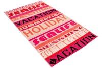 """Vossen Strandtuch """"Summer Vacation"""" pink 100 x 180 cm"""