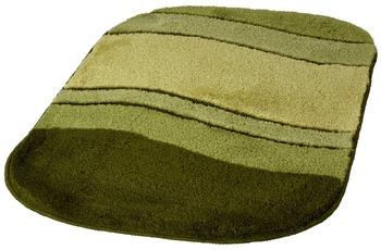Kleine Wolke Badteppich Siesta Mooshellgrün 60 cm x 100 cm oval