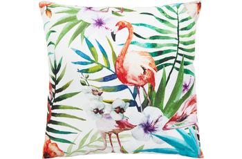 Andiamo In- und Outddor Kissen Nairobi Flamingo gemustert 40 x 40 cm